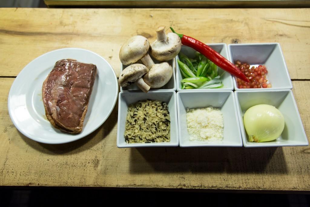 piept de rata cu orez salbatic si ciuperci